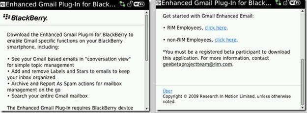 Enhanced Gmail Plugin for BlackBerry