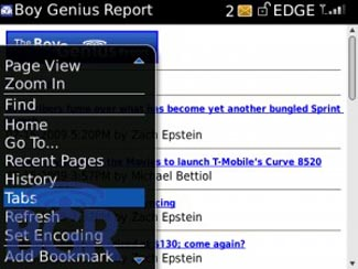 Tabbed Web Browsing Coming to BlackBerry OS 5.0