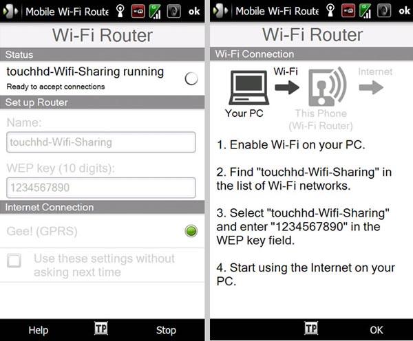 HTC Windows Mobile Smartphones Pull WiFi Router Duties Too