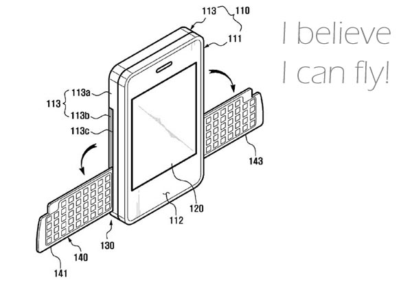 samsungwing  Samsung Patent Points Toward Winged QWERTY Phone