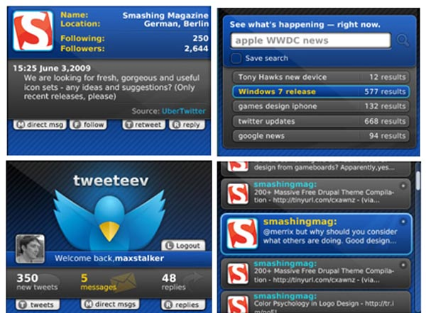 tweeteev Tweeteev Twitter App for BlackBerry and Android