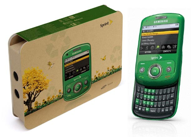 Go Green with Sprint Samsung Reclaim QWERTY Phone