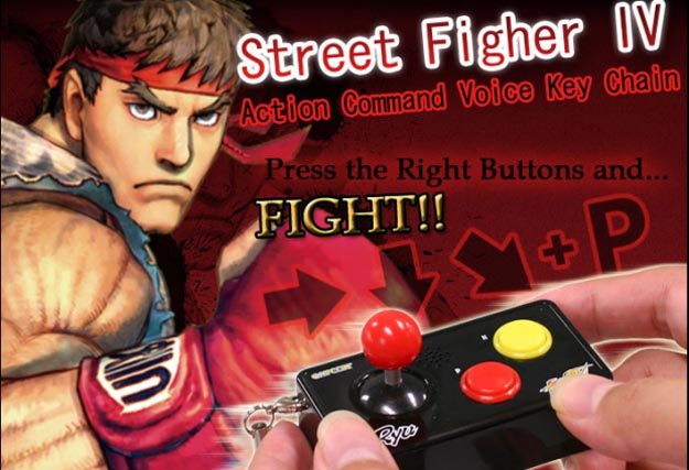 Video: Street Fighter IV Cell Phone Strap = Talking Arcade Stick