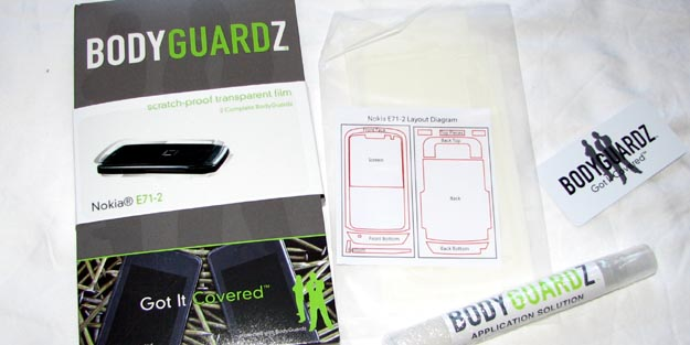REVIEW - BodyGuardz Clear Skin for Nokia E71