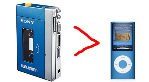 walkman  Sony Walkman Overtakes Apple iPod as Top MP3 Player