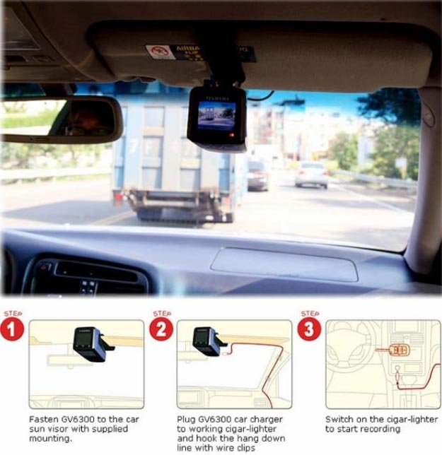 dashcam Record 48 Hours of Driving Habits at 720x480