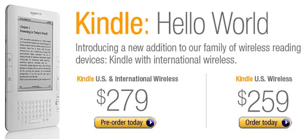 kindleintl  Say Hello to Amazon Kindle GSM International Edition