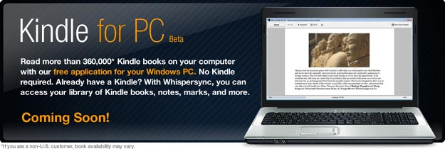 kindlepc  Amazon Kindle for PC to Invade Windows 7 Tablets