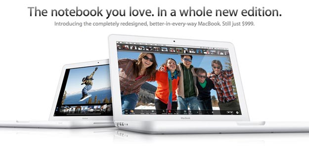 New Apple MacBook (White) Offers Rubberized Unibody