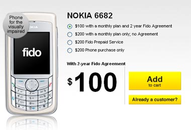 Fido Reaches Back to 2005 to Find Nokia 6682