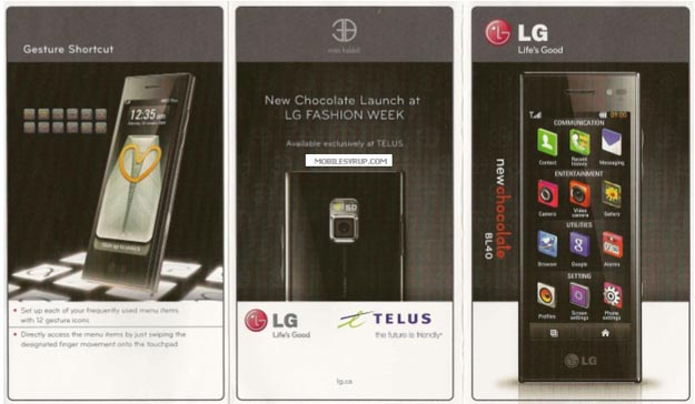 teluschoc Telus Prepares to Launch New LG Chocolate BL40