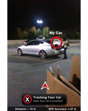carfinder  Car Finder iPhone App Finds Your Car (Duh)