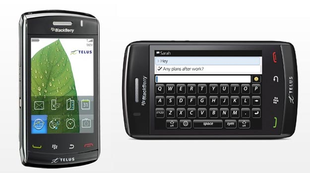 BlackBerry Storm2 9550 Arrives at Telus Mobility