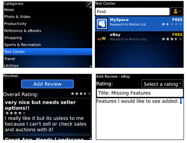 Download Beta Software with BlackBerry App World Test Center