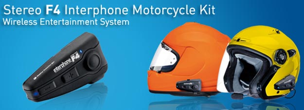 BlueAnt Stereo F4 Interphone Motorcycle Kit Does Bluetooth