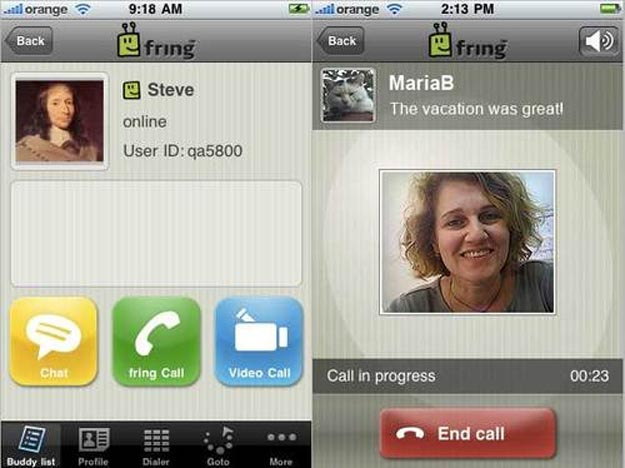 Fring Brings Skype Video Calls to iPhone