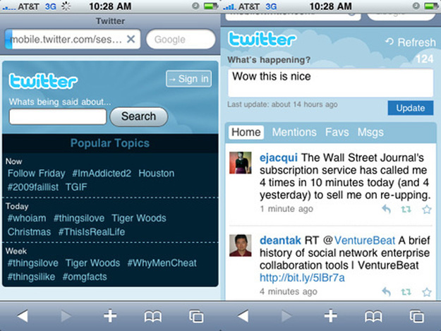 Check Out the Updated Mobile Twitter Site