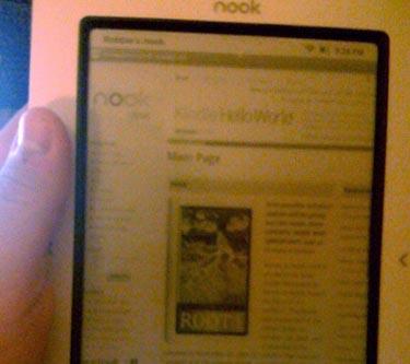 Barnes & Noble Nook eBook Reader Browses Web, Tweets Too