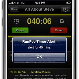 Timed Offline Alerts with RunPee Movie App Update