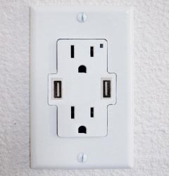 usbwall  Standard Wall Outlet Gains Two USB Ports for Ten Bucks