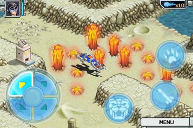 voltron Blast into the Past with Voltron iPhone Game
