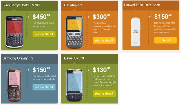 windphones   Wind Mobile Launches Today with Four Phone Choices