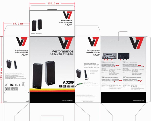 boxart REVIEW - V7 A321P 2.1 Multimedia Speaker System