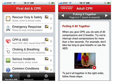 cpr-l iPhone Pocket First Aid & CPR app helps man treat wounds, save life in Haiti