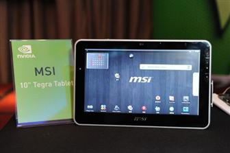 "msi-tegra MSI takes on Apple's iPad with a $500 10"" Tegra-based tablet"