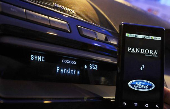 myford-touch-pandora Ford Sync gets update, MyFord Touch driver interface is sweet