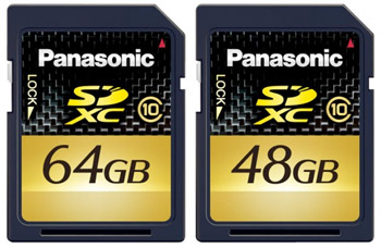 sdxc-large Panasonic unveils 48GB and 64GB SDXC cards for Hi-Def video and photography