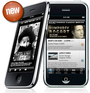 tcm Turner Classic Movies available on iPhone, headed for Blackberry, Android..