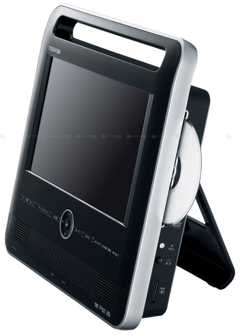 "toshiba-dvd-kickstand Toshiba portable DVD player with kick stand and 12"" LED LCD"