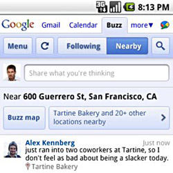 google-buzz-nearlocation Google Buzz - Location-based social networking at its finest