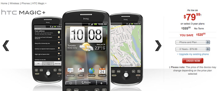 htcmagicplus  HTC Magic upgraded to HTC Magic+ by Rogers Wireless