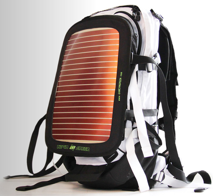 neongreen-01 NeonGreen Soular Backpacks are good for your gadgets, great for the planet
