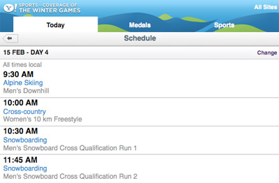 olympics-schedule Olympics schedule, clips and more on your mobile phone