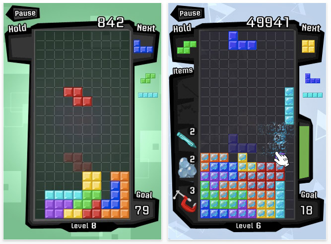 "tetris-screen-2 Tetris with ""Magic Mode"" for the iPhone and iPod Touch reviewed"