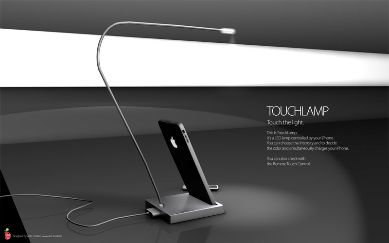 adr-touchlamp-01 iPhone Touchlamp concept to light up your life