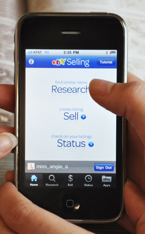 ebay-sell eBay releases iPhone selling app, iPad app coming Saturday