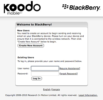 koodomobile-bb BlackBerry service coming to Koodo Canada?