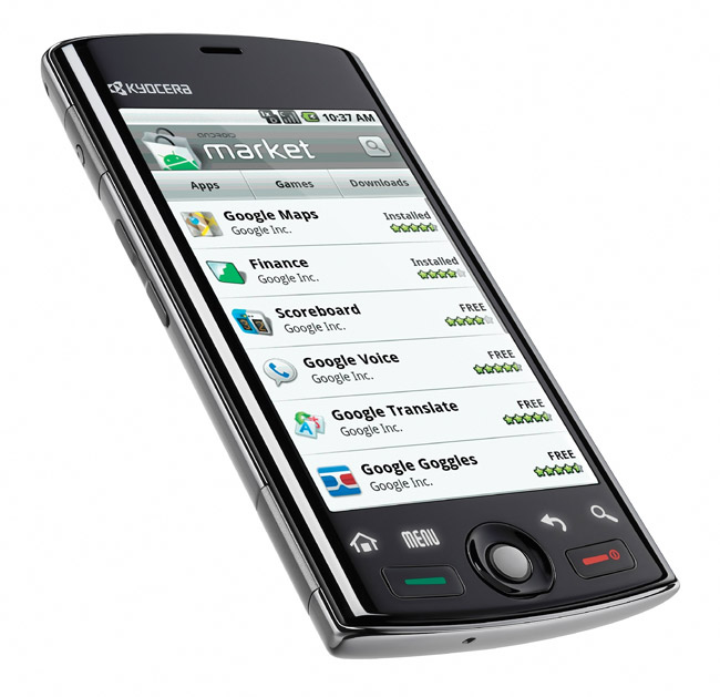 kyocera-zio  Kyocera Zio M6000 to offer Google Android on the cheap