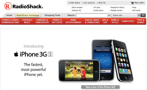 radioshack iPhones get large trade-in value at Radio Shack