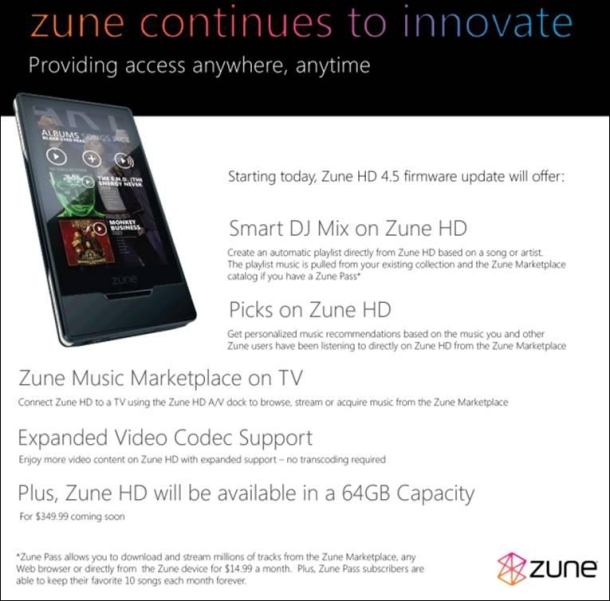 ZunePressSheet_610x601  Microsoft Zune firmware version 4.5 gets released