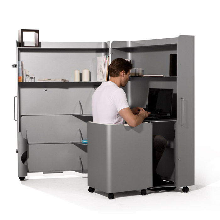 ioffice-01 Depressing $1800 home office fits in your closet