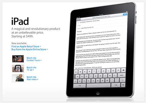 ipad.magical Apple iPad 3G in stores April 30, International pre-orders May 10