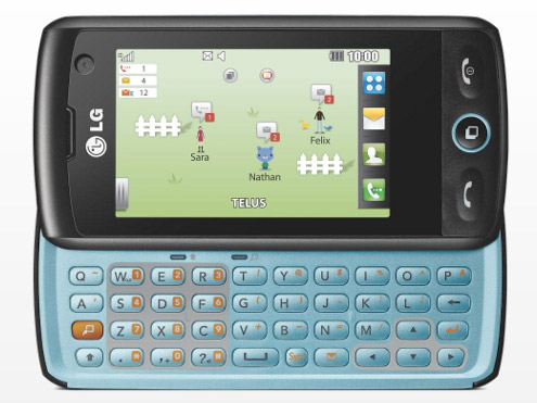 lg-breeze-telus Telus gets LG Breeze QWERTY messaging phone