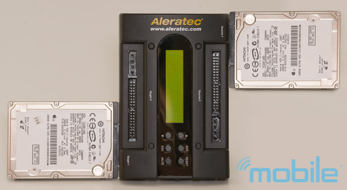aleratec-2-5 Review: Aleratec 1:1 HDD PortaCruiser hard disk drive duplicator