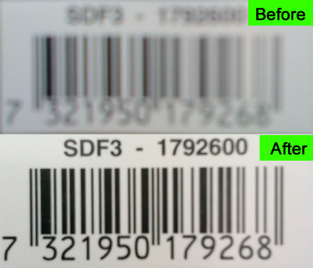 barcode-blur Pic2Shop fixes Android smartphones with no autofocus