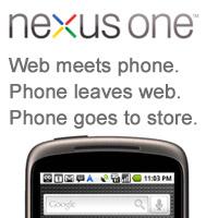 nexusone-web  Google stops selling Nexus One through web store